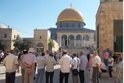 Tourists On Temple Mount