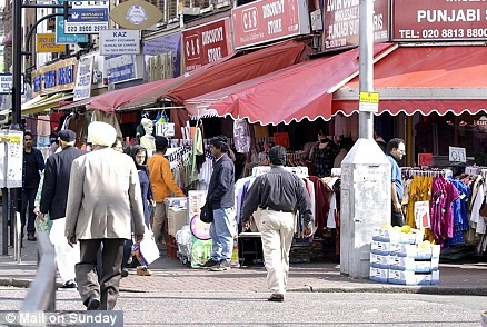 Immigrants in Southall, West London
