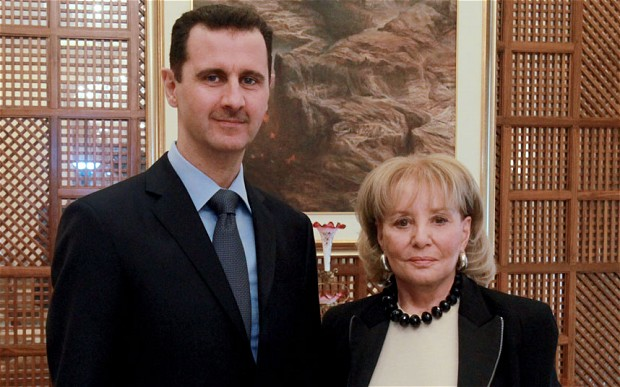 Bashar Assad and Barbara Walters