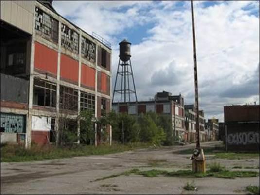 Detroit. unoccupied building