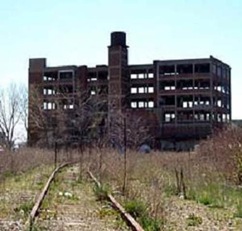 Detroit. ruined building