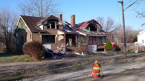 Detroit housing now in ruins
