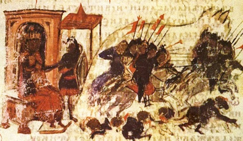 Seige of Constantinople, from the Constantine Manasses Chronicle