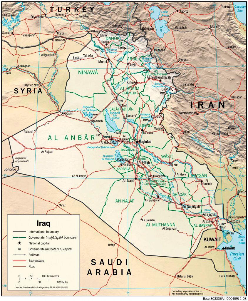 cia map of iraq