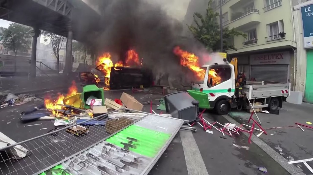 The aftermath of a pro-Palestinian protest in Paris