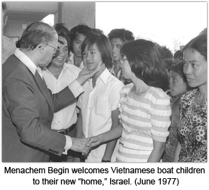 Begin and Vietnameese Boat People