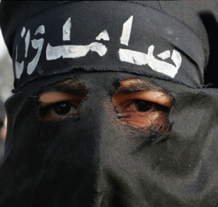 Islamist in Burka