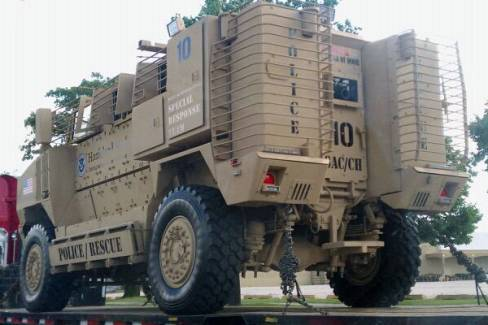 Mine Resistant Armor Protected Vehicles (MRAP).