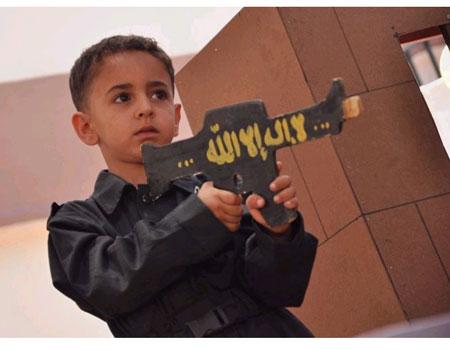 Gaza boy with rifle