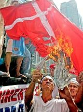 [Burning the Danish flag, 2006]