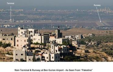airport as seen from palestine