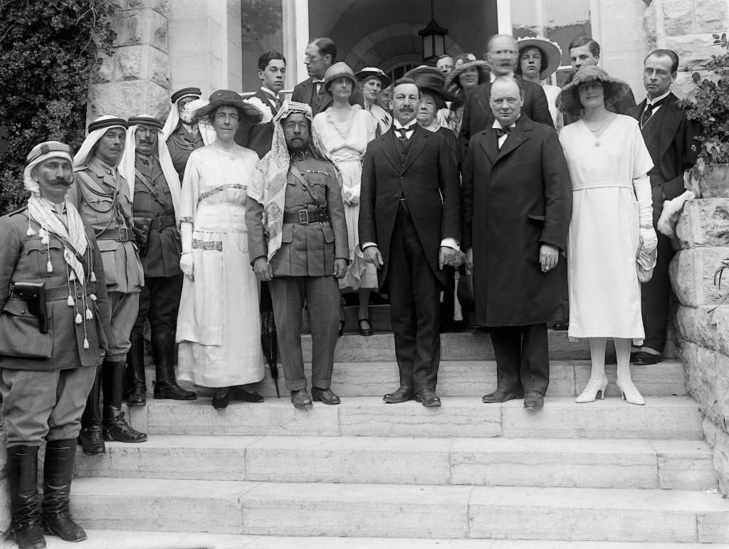 Churchill, Samuel and Abdullah I of Jordan in 1921.