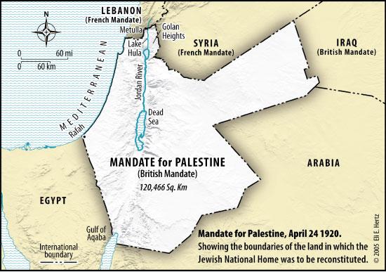 mandate land 1920